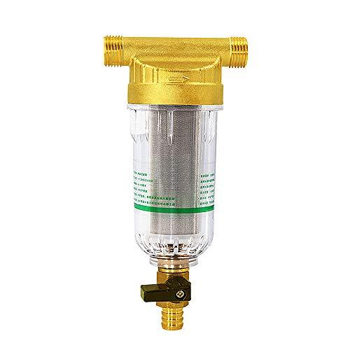Sistema Pre-Filtro Agua Casa Entera, Filtro Sedimento Centrifugado Reutilizable, 40 Micras Quitar Sedimento Agua, Purificar Agua Grifo para Hogar,1pc