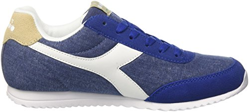 Diadora Jog Light C, Chaussures de Gymnastique Homme Bleu (Blu Limon Ges)
