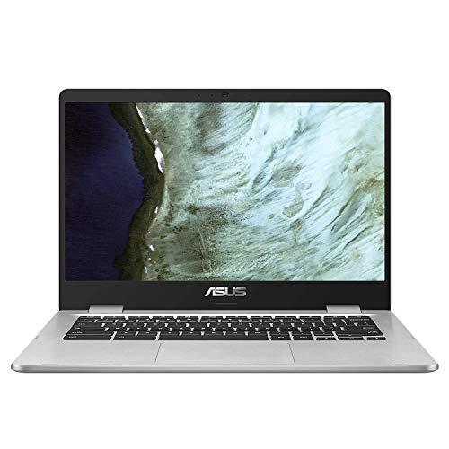 Asus C423NA-BV0044 Chromebook 14' Argent (Intel Pentium, 8 Go de RAM, EMMC 64 Go, Windows 10) Clavier AZERTY Français