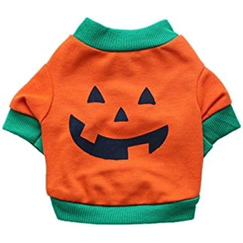 TANG imp Natale Cucciolo Cane Zucca Cotone Maglietta Vestiti Cane Domestico Shirts Costume L