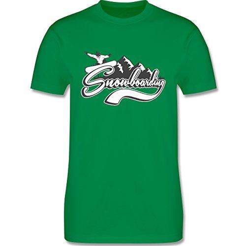 Wintersport - Snowboard Berge - Herren Premium T-Shirt Grün