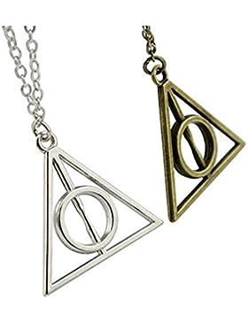 Ketten mit Anhänger in Dreiecksform, 2 Stück, inspiriert von Harry Potter und die Heiligtümer des Todes, je...