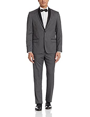 Arrow Men's Slim Fit Suit (8907378558640_AUSF5601_44 Jacket x 38 Trousers_Grey)