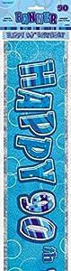 Unique Party Banderines de 90 cumpleaños Color azul Edad (92089