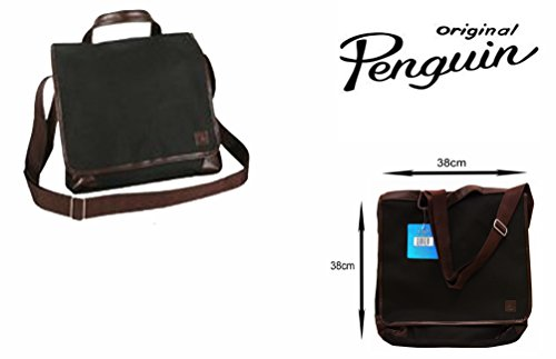 original-penguin-messenger-bag-with-2-compartments-fully-lined-black-brown-free-uk-delivery