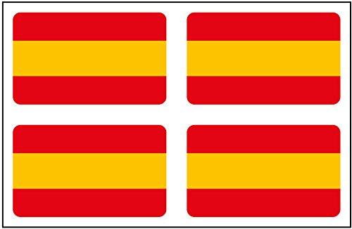 Artimagen Pegatina Bandera Rectángulo 4 uds. España