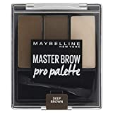 Maybelline New York Master Brow Pro Palette Design Kit NU4 Deep Brown Paleta do makijażu brwi