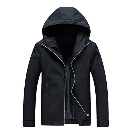 R-Cors Herren Sweat-Jacke Denim | Vintage Jeans-Jacke für Männer mit Kapuze Slim-Fit Langarm | Freizeit Hoodie Winddichtes Sakko-Oberteil