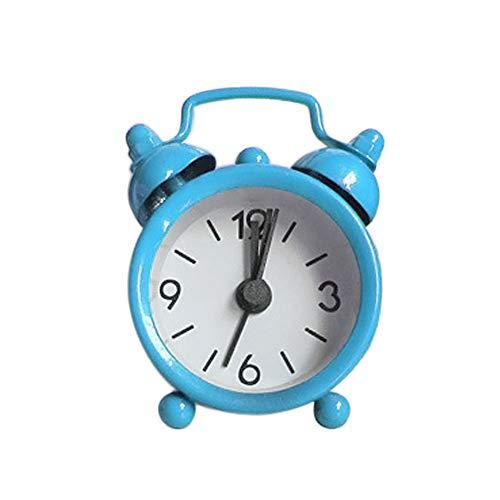 sunnymi Mini Digitale Wecker Metal Uhr Kreativ Elektronische Nette Kleine Wecker (Blau, 6.3x2x4.3cm)