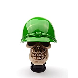 AutoBoy Soldier Skull Gear Stick Shift Shifter Knob Lever Cover Universal Fit For Car Manual Transmission and Automatic Transmission Without Lock Button(Green)