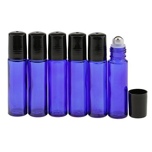 Sharplace (12 Stück Packung) 10ml Roll on Fläschchen leer Glasflaschen zum Nachfüllen für ätherisches Öl Parfüm Flasche, Reise Makeup -
