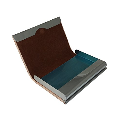 Ammvi-Creations-Wooden-Look-Carob-Brown-Faux-Leather-Steel-Sleek-VistingCreditDebitID-Card-Holder