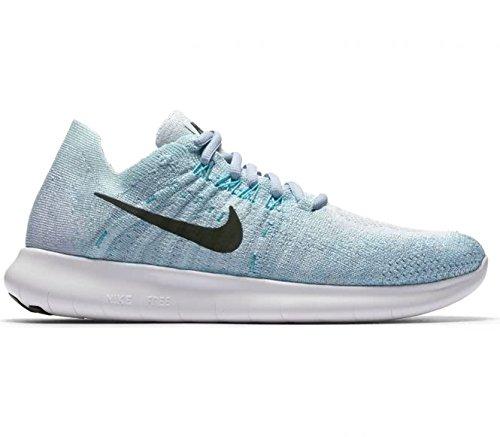 Nike Damen Free RN Flyknit 2017 Laufschuhe blau/schwarz, 40 EU