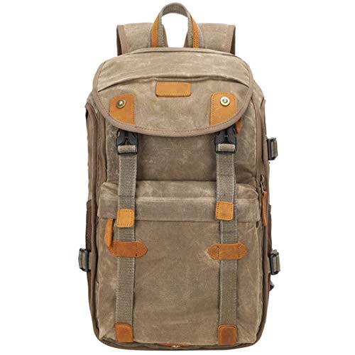 HRTX Kamera leinwand rucksack wasserdicht anti-shock rucksack große kapazität vorne offen reisetasche professionelle kameratasche (Color : A) - Ziel Kulturbeutel