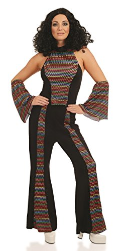 70s Disco Queen Flares Costume. Sizes 8 to 22