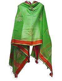 Skhoza Chanderi Cotton Zari Embroidered Dupatta For Women