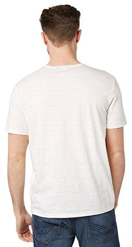 TOM TAILOR Herren T-Shirt Photoprint Tee Weiß (Blanc De Blanc White 2063)