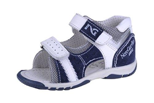 Nero Giardini Junior , {Chaussures premiers pas pour bébé (garçon) blanc blanc 23 Cam Jeans/Grigio/Bianco