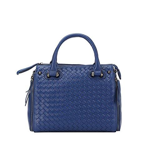 DUYANGANG Damen Einfache Umhängetasche Handtasche Boston Tasche,Persianblue-OneSize - Personalisierte Boston Bag