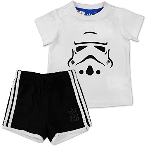 ars Storm Trooper Set Kleinkinder Kinder Anzüge & Bodies, weiß/schwarz, 68 ()