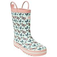 Trespass Butterflie, Peppermint Print, 28, Waterproof Wellington Boots for Kids/Girls, UK Size 10, Green