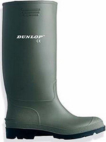 Dunlop Stivali Agro alimentare con punta acciaio sicurezza molto resistente. Forma ergonomica. Asta PVC bianco. antiacido, 36, 0