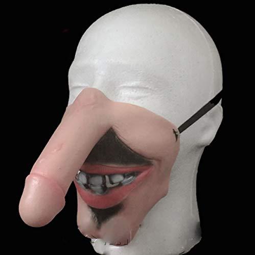 Lustige Kopfmaske Penis Dick Kopf Latex Maske Prank Party Kostüm Hen Stag Halloween Für Witz Geschenk,Mediumjj