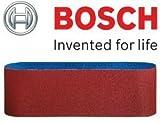 Bosch Genuine Schleifbänder (passend für: Bosch PBS 75 A & GBS 75AE Schleifer) (keine Bosch Pt 2608606083 & 2608606072) (Grit=100) (, 1 Packung mit 10 Gürtel) C/W KeyTape STANLEY + Cadbury Schokoriegel