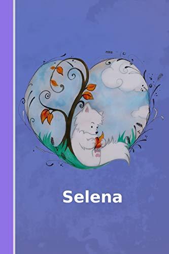 Selena: Personalisiertes Notizbuch   Fuchs mit Herz   Softcover   120 Seiten   leer / blanko / nummeriert   Notebook   Tagebuch   Diary   Scrapbook   Geschenkidee