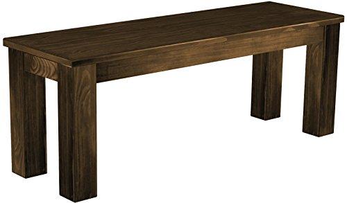 Brasilmöbel Sitzbank 'Rio Classico' 120 cm, Pinie Massivholz, Farbton Eiche antik