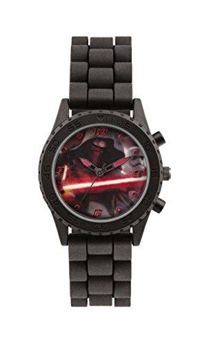 Star Wars Jungen-Armbanduhr Analog Silikon Schwarz (Uhr Star Wars)