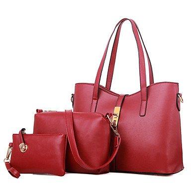 La donna pu canna borsa a tracolla / Tote - bianco / rosa / blu / nero / rosso borgogna,blu Blushing Pink