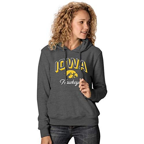 NCAA Damen Premium Campus Classic Goodie Hoodie - mehrere Teams, Größen, Damen, Iowa Hawkeyes - Black, Womens Large -