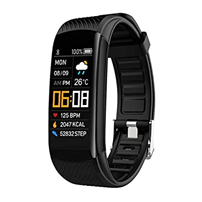 NYZ Fitness Tracker Watch, IP67 Waterpfoof Activity Tracker (Pedometer, Steps Calories Counter, Sleep Heart Rate Monitor) Slim Smart Bracelet Health Sport Bands Gift for Women Men Kids?New Version by NYZ