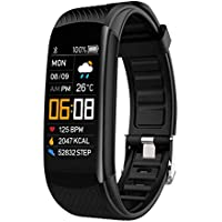 NYZ Fitness Tracker Watch, IP67 Waterpfoof Activity Tracker (Pedometer, Steps Calories Counter, Sleep Heart Rate Monitor) Slim Smart Bracelet Health Sport Bands Gift for Women Men Kids(New Version
