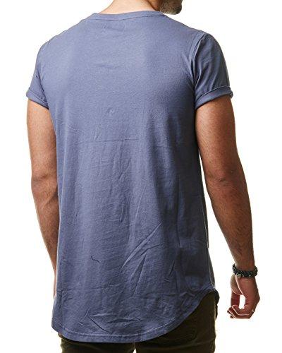 Sixth June Herren T-Shirt Long Oversized Shirt Kanye For President Orange Blau M2523 Blau