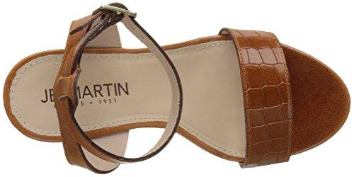 Jb Martin 2ola E17, Plateau Donna Marron (v Chian / V Croc Brandy / T Li Met Bronze)