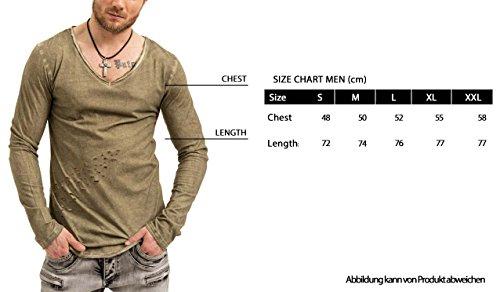 trueprodigy Casual Herren Marken Long Sleeve mit Aufdruck, Oberteil cool und stylisch mit Rundhals (Langarm & Slim Fit), Langarmshirt für Männer bedruckt Farbe: Weiß 1073174-2000 White