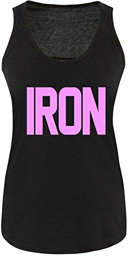 EZYshirt® Iron Damen Tanktop Schwarz/Rosa