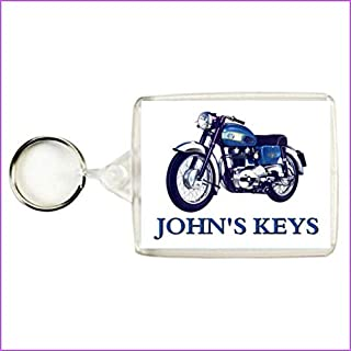 Key Expressions Personalised AJS SAPPHIRE 250 CLASSIC MOTORCYCLE Keyring / Bag Tag - An Ideal Gift for a Motorbike Enthusiast