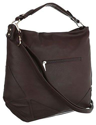 borsa shopper con lati borchie alt manico14cm alt:35cm lun:40cm larg:15cm Marrone