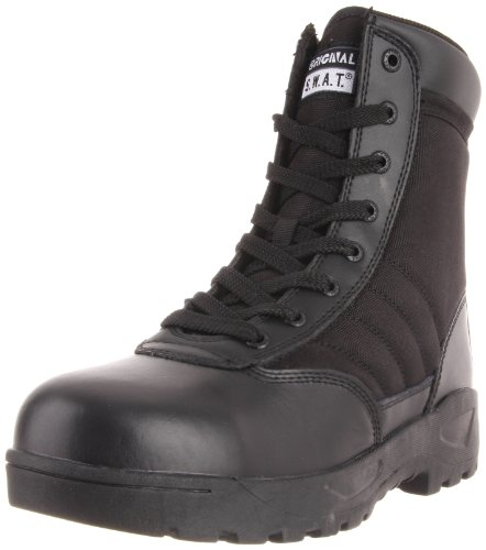 Classic 9 in., Steel Toe, Side Zip, Black, Size 8 Side Zip Steel Toe Boots