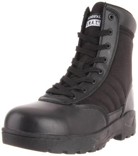 Classic 9 in., Steel Toe, Side Zip, Black, Size 8 Steel Toe 9