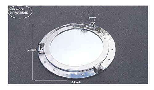 Deluxe Class Chrome Porthole Mirror 20