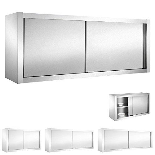 V2Aox Edelstahl Gastro Wandschrank Hängeschrank Wandhängeschrank Schiebetür, Größe:160 x 65 x 40 cm
