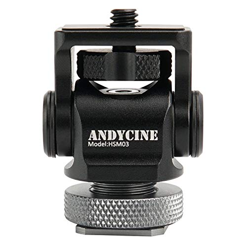 andycine Mini Hot Shoe Mount 176Grad oberen Rotation 360Grad Basis Umdrehungen Drehgelenk mit Schraube Bestandteil Tools Box