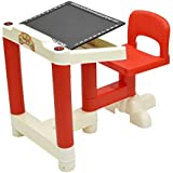 Stepupp Kids Plastic Portable Folding Table Chair Set For Activity Play And Study Recommended For Study Table For Kids With Chair, Baby Study Table Chair, Kids Table For Study And Feeding (red Color)