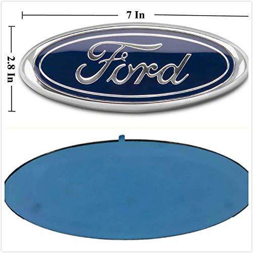 Foxxi F-7BL Heckklappen-Emblem, oval, 17,8 x 7,1 cm, Blau
