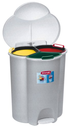 #Rubbermaid Commercial Trio Pedal Bin#