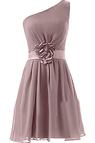Missdressy - Robe - Plissée - Femme Gris/rose